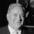"""Dr. Carlo Schmid, Mitglied des Parlamentarischen Rates, der bewußt keine """"Nationalversammlung"""" war, weil das Grundgesetz keine Verfassung werden konnte."""